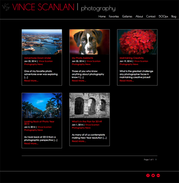 "Vince Scanlan Photography<br /> Specializes in Landscape Photography, Wildlife Photography, Portrait Photography<br /> Web Site can be found at: <a href=""http://www.vincescanlan.com/"">http://www.vincescanlan.com/</a><br /> SmugMug Customization and Wordpress Theme by jR Customization"