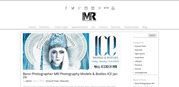 """Marcello Rostagni - Reno Nevada Photography<br /> Specializes in Portrait Photography, Wedding Photography, Boudoir Photography and Event Photography<br /> Web Site can be found at: <a href=""""http://www.mrphotography.com"""">http://www.mrphotography.com</a><br /> Wordpress Theme - SmugMug Customization by jR Customization"""