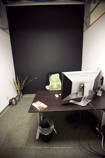 Before, it was just a coat of fresh blackboard paint and the usual fluorescent lights.