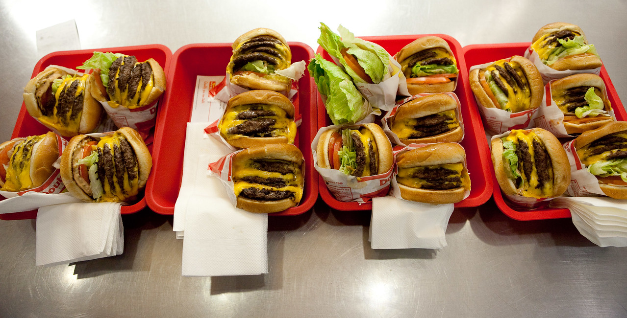 In N Out wouldn't make us 7x7s, so we made them ourselves from these.