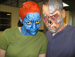 Mystique and Deathlok<br /> aka Support Her0 Wendee Stevens and Smug Wordsmith Sean Rogan