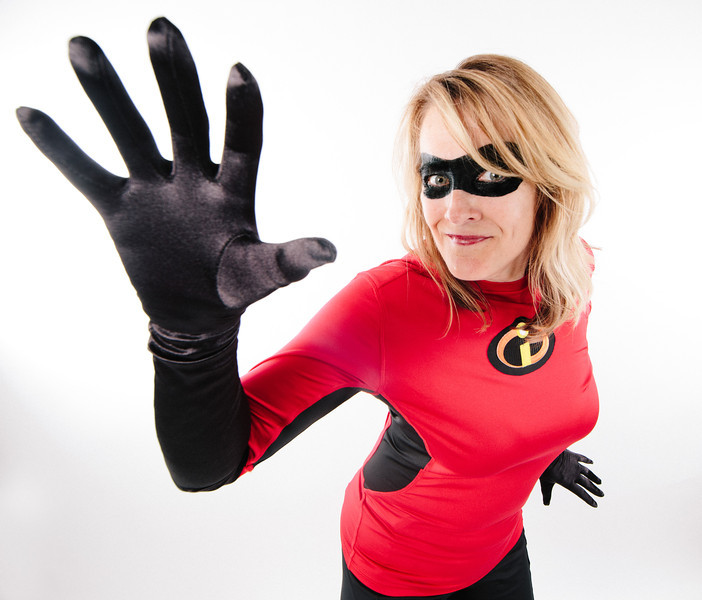"""Jennifer as """"Elsta Girl"""" / """"Mrs. Incredible"""" from The Incredibles!"""
