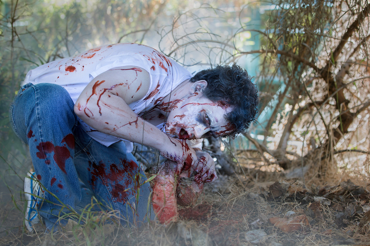 Andres Ruiz as a Zombie from The Walking Dead