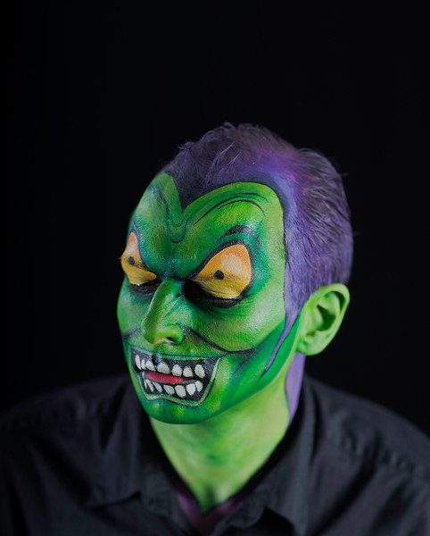 """Brian as """"The Green Goblin"""" in Spiderman"""