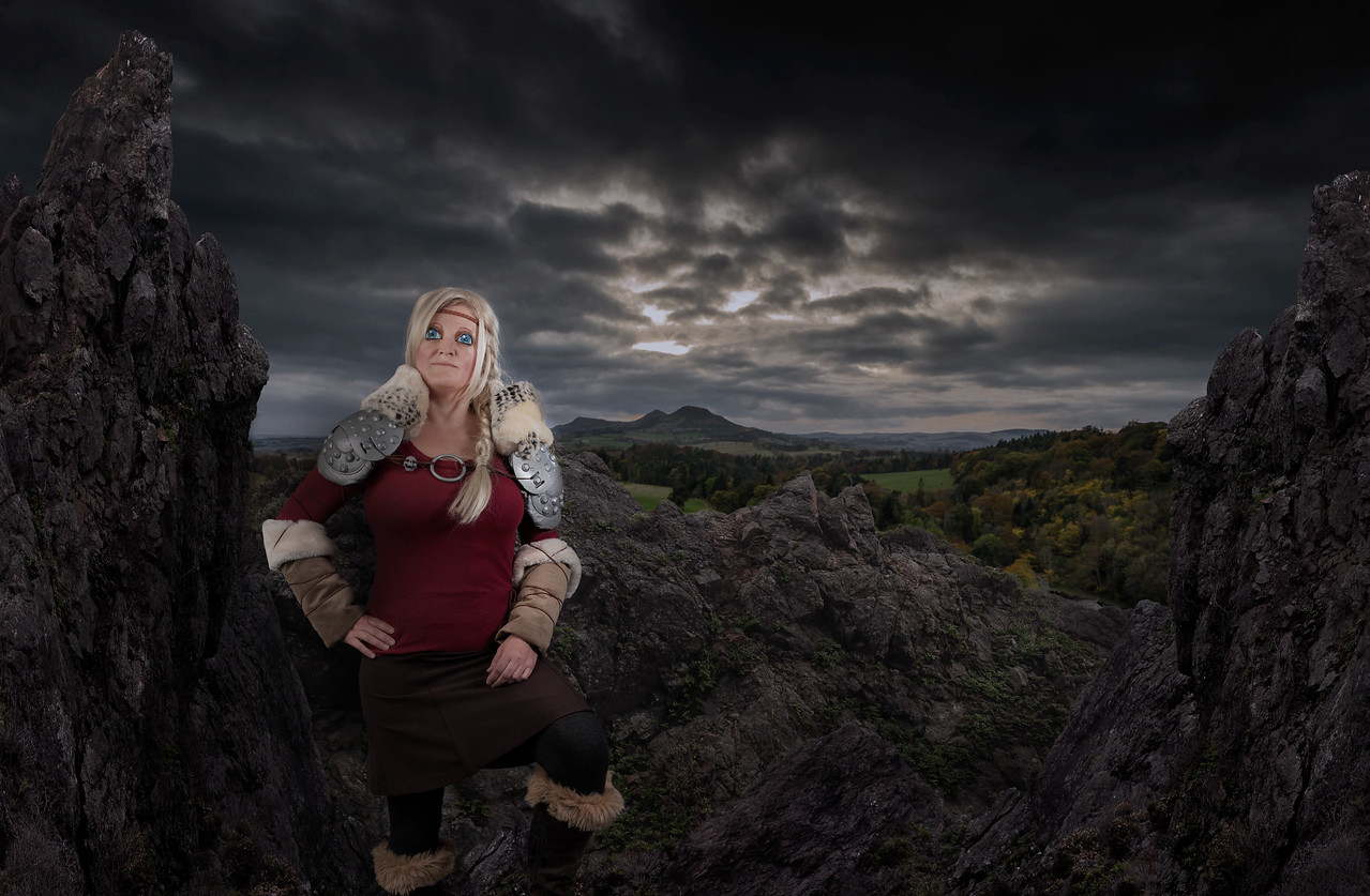 Jackie Haverdink as Astrid from the movie, How To Train Your Dragon 2.