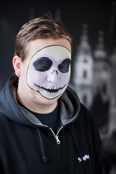 "John as ""Jack Skellington"" in The Nightmare Before Christmas"