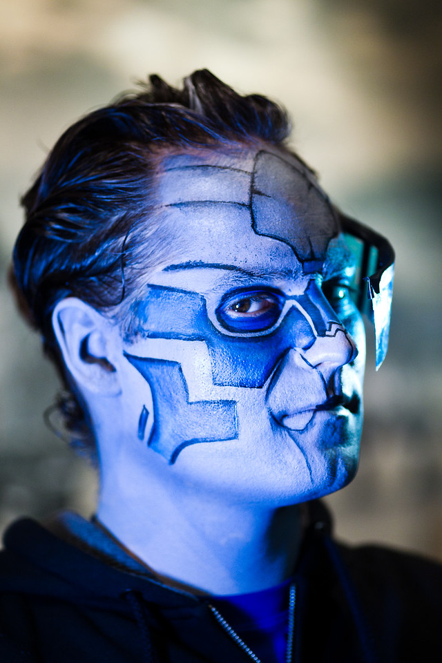 "Dana as ""Garrus Vakarian"" from Mass Effect"