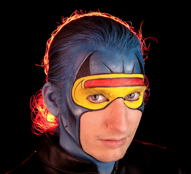 """Josh as """"Cyclops"""" in X-Men"""