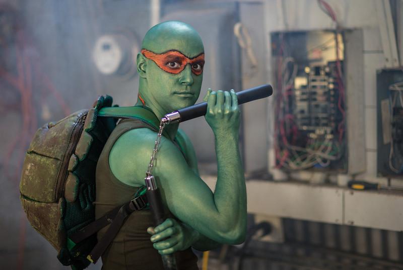 """Michael as """"Michelangelo"""" in Teenage Mutant Ninja Turtle"""