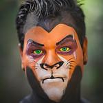 "Brett Haynes as ""Scar"" from The Lion King"