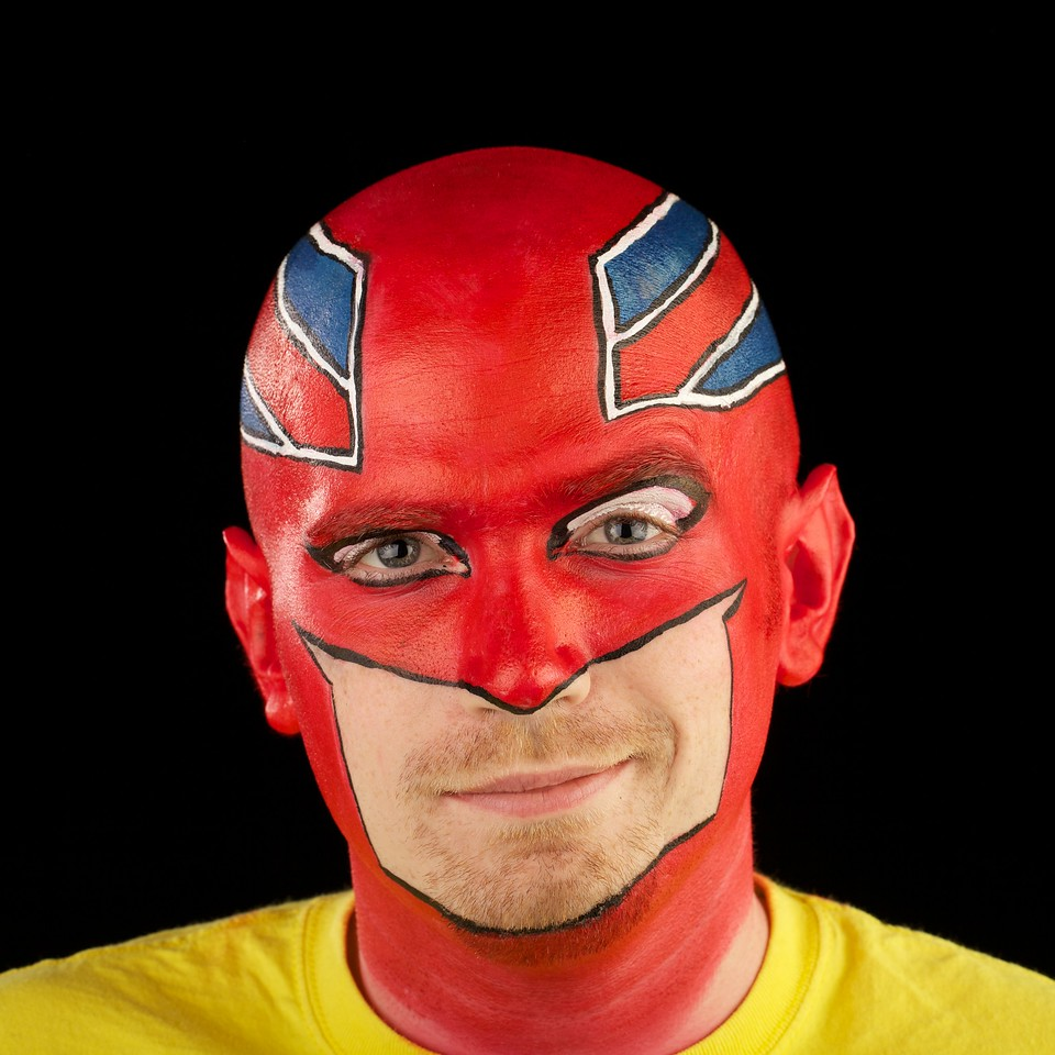 "Bobby as ""Captain Britain"""