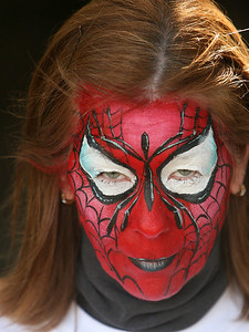 "Lindy as ""SpiderWoman"""