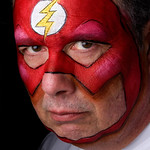 "Steve as ""Flash"""