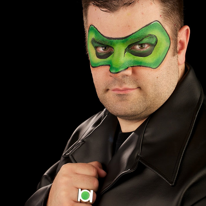 "Ryan as ""The Green Lantern"""