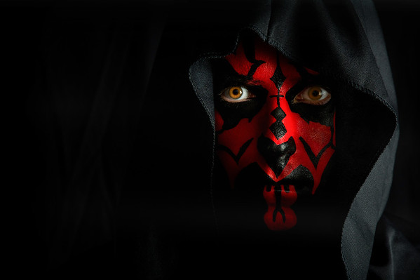 "Ivan as ""Darth Maul"" from Star Wars"