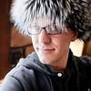 Trav wearing my hat! It looks better on him.