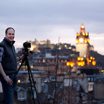 Shooting the Edinburgh skyline with pro Alastair Jolly, who lives up to his name.