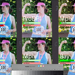 At first glance, testers couldn't decide between Mpix, upper right, and Bay, lower right as best.  The Bay shot was slightly redder in the cheek, which most testers didn't like.  But those who noticed the foliage color behind the girl all chose Bay.<br /> <br /> A second Mpix version, upper left, struck most people as too blue.  Same for whcc, but not to the same degree.  Some people liked the somewhat pink color of the ProDPI, and some disliked it more than the blue of Mpix.