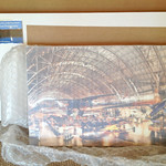 Remove the bubble wrap and you have the print, further protected in soft foam wrapping.