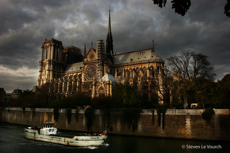 <h2>Notre Dame de Paris (French for Our Lady of Paris)</h2> <br /> Notre Dame de Paris, also known as Notre Dame Cathedral, is a Gothic, Catholic cathedral on the eastern half of the Île de la Cité in the fourth arrondissement of Paris, France. It is the cathedral of the Catholic Archdiocese of Paris: that is, it is the church that contains the cathedra (official chair) of the Archbishop of Paris, currently André Vingt-Trois. The cathedral treasury houses a reliquary with the purported Crown of Thorns.
