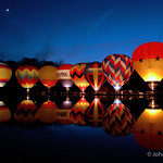 I love the colors of the hot air balloons, and their reflections in the water.