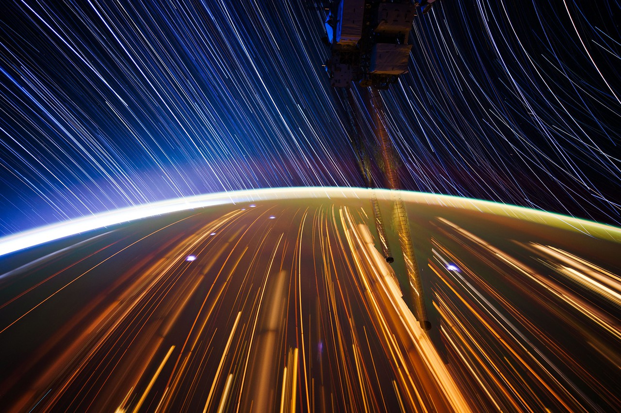 Expedition 31 star trail composite using iss031e044596 thru iss031e044624