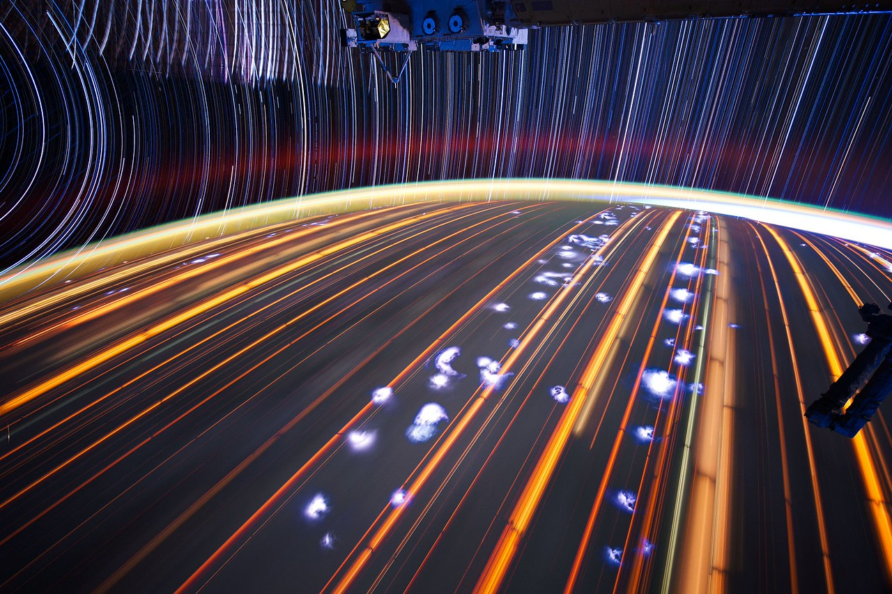 Expedition 31 star trail composite using iss031e043292 thru iss031e043345