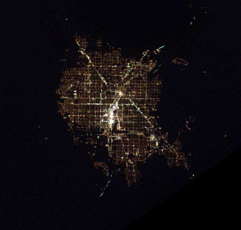 37788 3/13/03 7:59:21 34.0N 116.6W USA  Nevada Las Vegas; Henderson, Boulder City (SE); Jean (SW); Pahrump (W); Indian Springs (NW) rotate 35 CCW to get N up