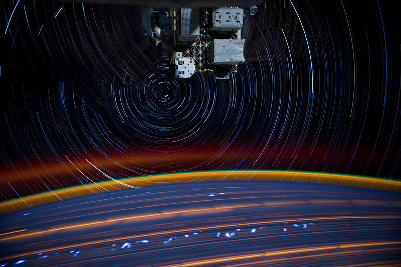 ISS030 star trail composite using iss030e158927 thru iss030e158944