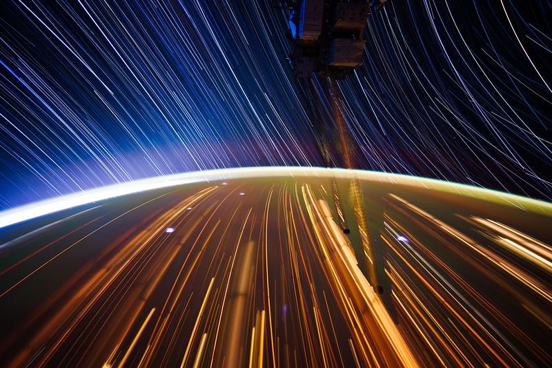 Expedition 31 star trail composite using iss031e044596 thru iss031e044624