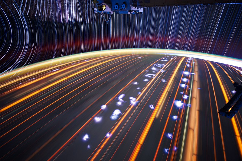Expedition 31 star trail composite using iss031e043292 thru iss031e043345