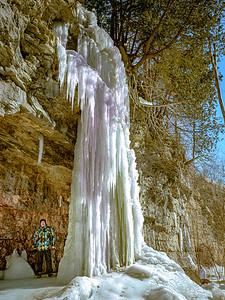 Standing Under the Ice Fall!