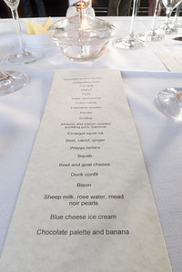 20 Course Meal at Verses Restaurant August 25, 2012. The Menu ..