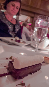 Chocolate palette & Banana!  With Kristi and Cathy there the chocolate didn't stand a chance despite it being the 20th course!