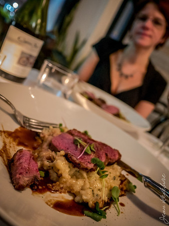 Duck Breast over Risotto
