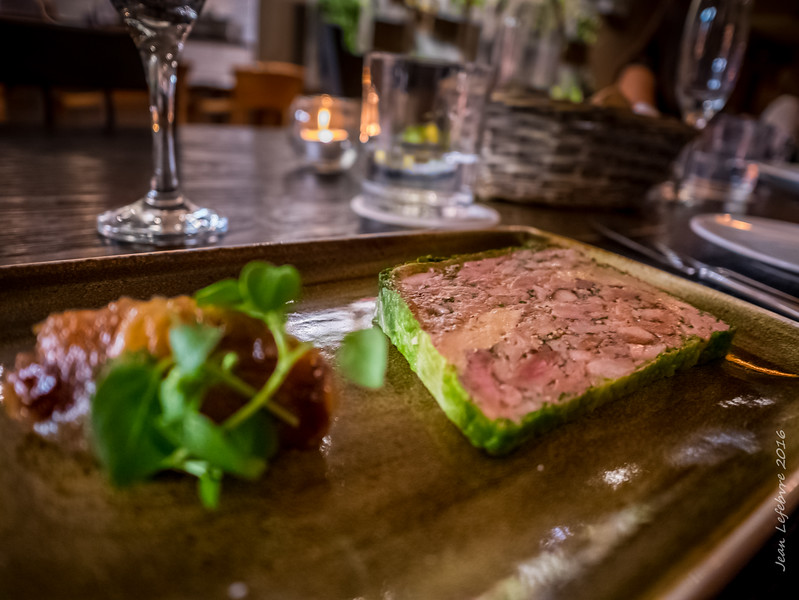 Terrine - Pulled Pork and Foie Gras mmmmmmmmm!