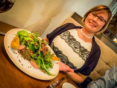 Kale Salad with Pommagranite