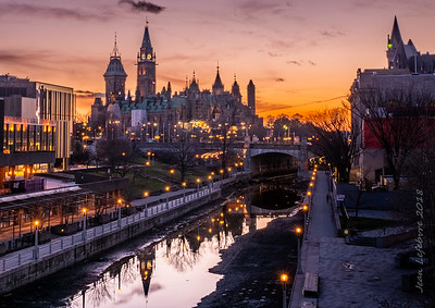 Ottawa during the golden hour