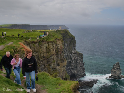 Cliff's of Moher can get mighty windy!