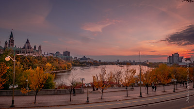 Sunset over the Capital and Ottawa River