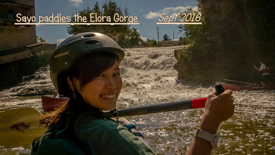 Sayo Paddles the Elora Gorge!