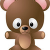 Cute Little Brown Teddy Bear Toy Clipart Illustration