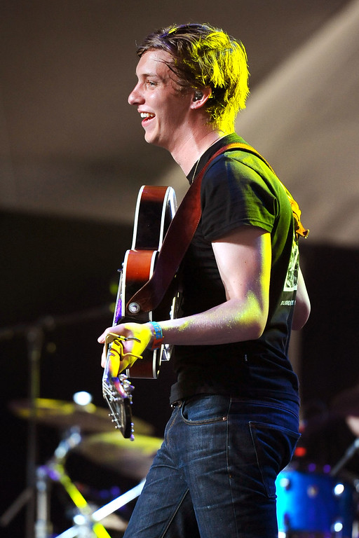 . George Ezra lets out a smile while performing during the Coachella Valley Music and Arts Festival in Indio, CA Friday, April 17, 2015.(Andy Holzman/Inland Valley Daily Bulletin)