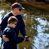 Debby High — For Montgomery Media<br /> Father and son Paul and Paulie McLaughlin, of Quakertown, enjoy a morning of fishing.
