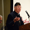 WW II Navy Veteran, Walton Horn, Chaplain captivated the audience stories that made them laugh. Photo by Debby High