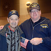 Veterans Lamar Feikel, US Naval Air and John Koetteritz, US Navy. Photo by Debby High