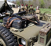 Bob Raines--Montgomery Media<br /> A Sten gun lies on the hood of a jeep at the British camp area at the World War II Weekend at Graeme Park Saturday, May 2, 2015.