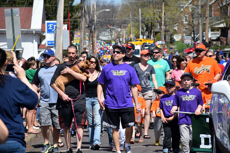Pennridge Little League Parade covered the streets of Perkasie on Saturday, April 18, 2015. Photo by Debby High