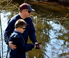 Father and son, Paul & Paulie McLaughlin came down from Quakertown to enjoy a morning of fishing. Photo by Debby High