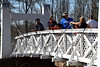 Lenape Park Twin Bridges was a great place kids to cast line and fish. Photo by Debby High